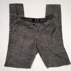 Zara Slim Flat Wool Camo Trousers, 30